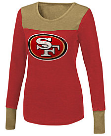Touch By Alyssa Milano Women's San Francisco 49ers Blindside Thermal Long Sleeve T-Shirt
