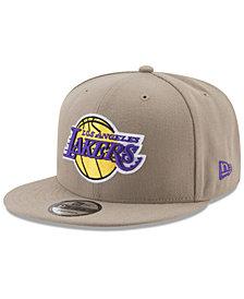 New Era Los Angeles Lakers Tan Top 9FIFTY Snapback Cap