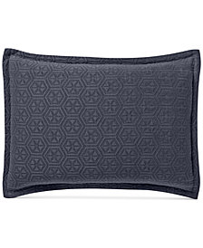 CLOSEOUT! Lucky Brand Medallion Matelasse Standard Sham, Created for Macy's