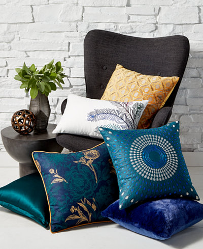 CLOSEOUT! Hallmart Collectibles Jewel Tone Decorative Pillow Collection