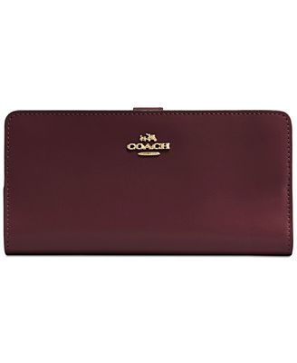 Coach Skinny Wallet In Refined Calf Leather Handbags