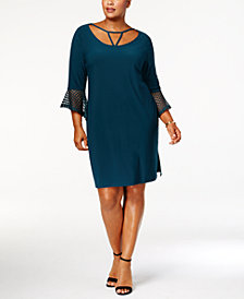 Love Scarlett Plus Size Cutout Bell-Sleeve Dress