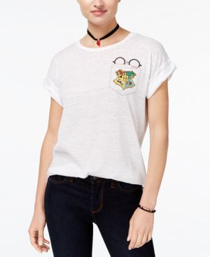 Bioworld Juniors' Harry Potter Pocket T-Shirt