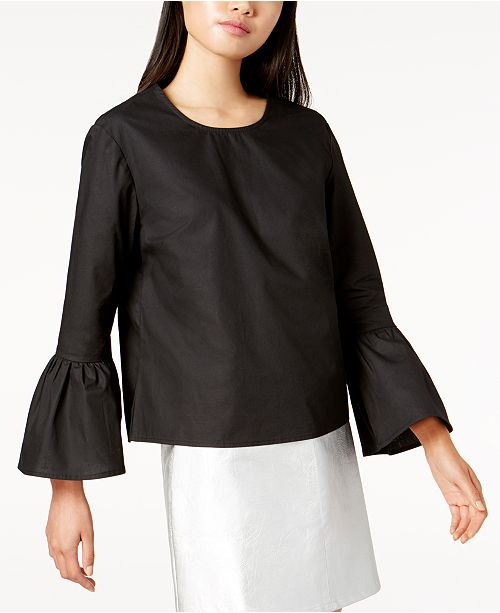 by Glamorous Cotton Bell-Sleeve Top