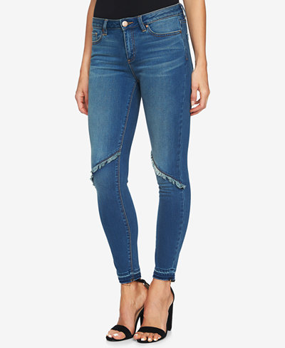 1.STATE Frayed-Detail Skinny Jeans