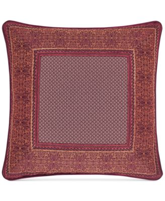 "Ellington Red 18"" Square Decorative Pillow"