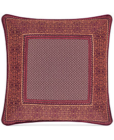 "J Queen New York Ellington Red 18"" Square Decorative Pillow"