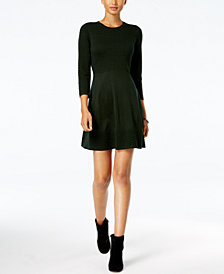 Jessica Howard Petite Fit & Flare Sweater Dress