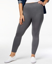 HUE® Plus Size Seamless Leggings