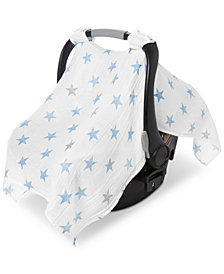 aden by aden + anais Cotton Dapper Printed Car Seat Canopy, Baby Boys