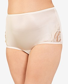 Perfectly Yours® Lace Nouveau Nylon Brief Underwear 13001, also available in extended sizes