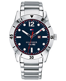 Tommy Hilfiger Men's Stainless Steel Bracelet Watch 42mm, Created for Macy's