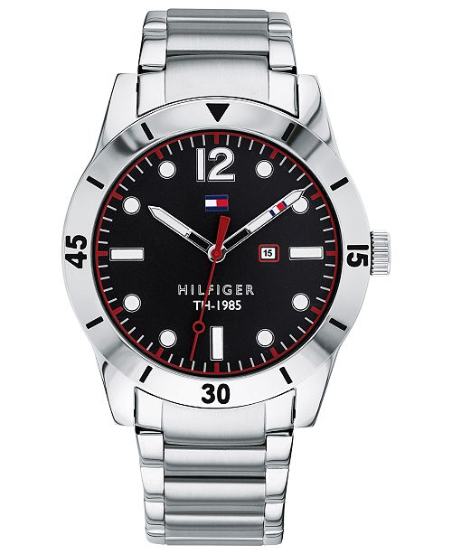 b868f1c1 Tommy Hilfiger Men's Stainless Steel Bracelet Watch 42mm, Created for  Macy's ...