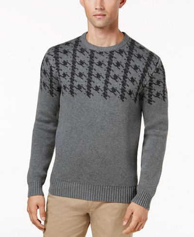 Ben Sherman Men's Dogtooth Jacquard Sweater