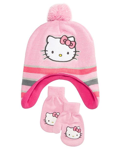 ... closeout 2 pc. hat mittens set toddler girls ac4e2 6f5d4 fb10d7f26bc4