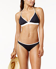 Vince Camuto Sun Block Colorblocked Reversible Halter Triangle Top & Reversible Bikini Bottoms