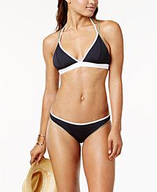 Vince Camuto Sun Block Colorblocked Reversible Halter Triangle Top & Reversible Bikini Bottoms