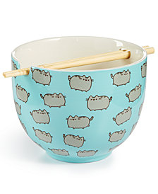 Department 56 Pusheen Bowl & Chopsticks Set