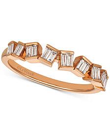 Le Vian® Diamond Baguette Ring (1/4 ct. t.w.) in 14k Rose Gold