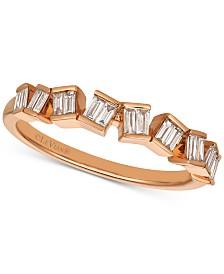 Le Vian® Baguette Frenzy™ Diamond Baguette Ring (1/4 ct. t.w.) in 14k Rose Gold