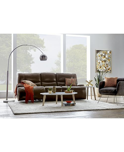 Furniture CLOSEOUT! Calver Leather Power Motion Collection With Power Headrest and USB Power Outlet, Created for Macy's