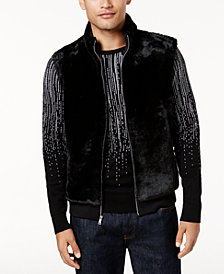 I.N.C. Men's Faux-Fur Lined Vest, Created for Macy's
