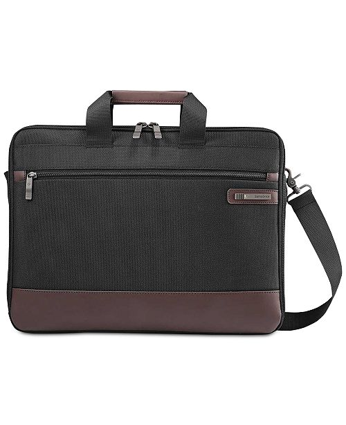 f3ca822f57 Samsonite Men's Kombi Slim Briefcase; Samsonite Men's Kombi Slim Briefcase  ...