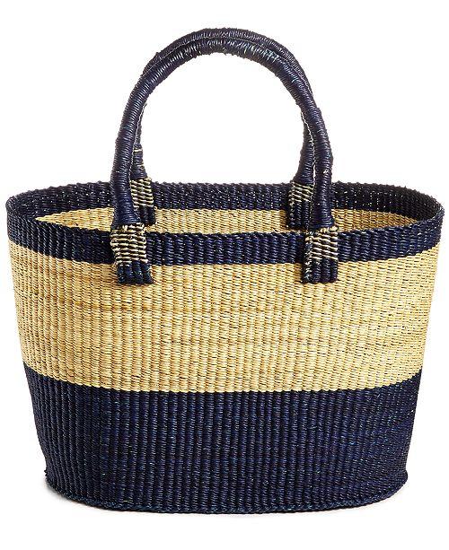 Global Goods Partners Bolga Colorblocked Large Tote Bag