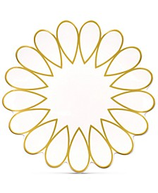 by Laura Johnson Scallop-Edge Gold Salad Plate