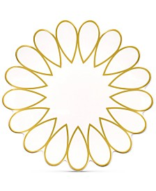 Coton Colors Scallop-Edge Gold Salad Plate