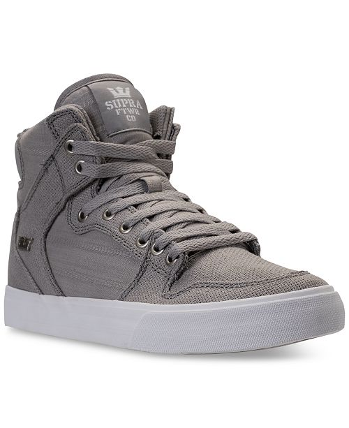 SUPRA Men s Vaider Casual Skate High Top Sneakers from Finish Line ... f8fddb359