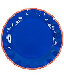 by Laura Johnson  Mid Century Mix Indigo Ruffle Dinner Plate