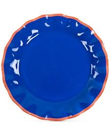 Coton Colors Mid Century Mix Indigo Ruffle Dinner Plate
