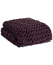 "Madison Park 50"" x 60"" Chunky Cable-Knit Throw"