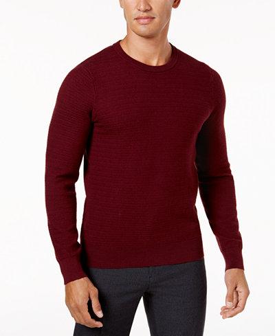 Ryan Seacrest Distinction™ Men's Modern-Fit Herringbone Sweater, Created for Macy's