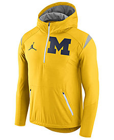 Nike Men's Michigan Wolverines Fly-Rush Quarter-Zip Hoodie