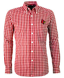 Antigua Men's Louisville Cardinals National Button-Up
