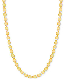 "18"" Valentina Link Chain Necklace (3mm) in 14k Gold"