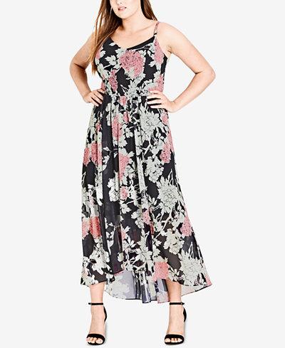 City Chic Trendy Plus Size Printed Maxi Dress
