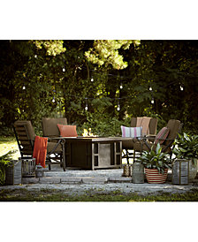 Wyndham Fire Pit and Chat Set Outdoor Collection, with Sunbrella® Cushions, Created for Macy's