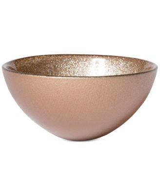 Glitter Glass Ginger Small Bowl