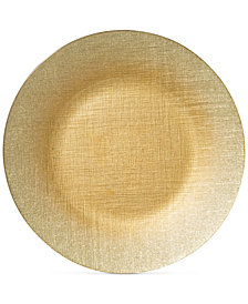 VIETRI Glitter Glass Gold Charger Plate