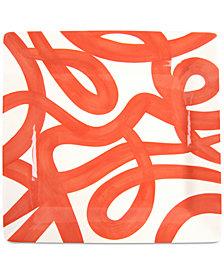Coton Colors Persimmon Loop De Loo Square  Platter