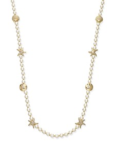 Gold-Tone Imitation Pearl Sea Motif Long Necklace, Created for Macy's