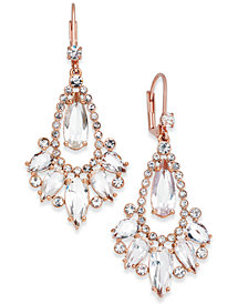 kate spade new york 14k Rose Gold-Plated Crystal Teardrop Chandelier Earrings