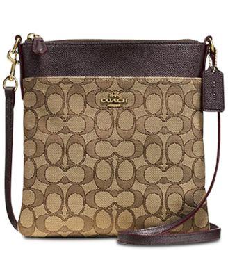 dab952160df0 COACH Messenger Crossbody In Signature Jacquard   Reviews - Handbags    Accessories - Macy s