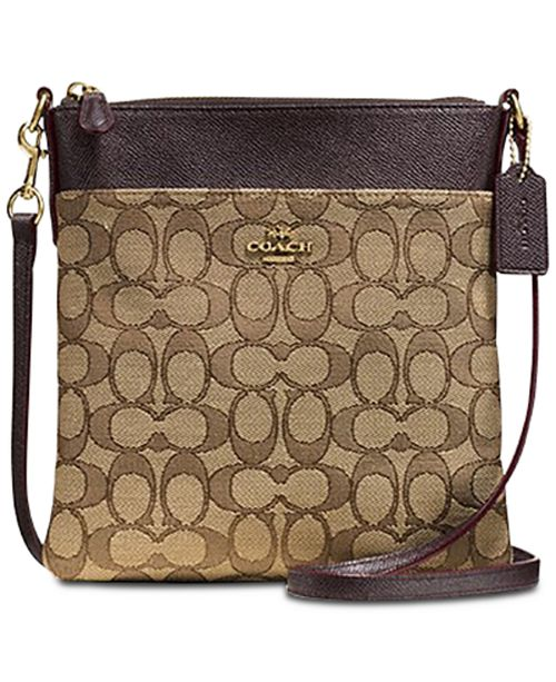 6197a3bdb5 ... COACH Messenger Crossbody In Signature Jacquard ...