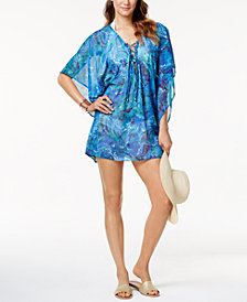 Lauren Ralph Lauren Lace-Up Tunic Cover-Up