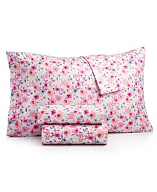 Printed Microfiber King 4-Pc Sheet Set, Created for Macy's