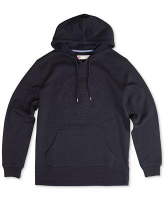 Levi's® Men's Arena Embossed-Logo Pullover Hoodie - Hoodies ...